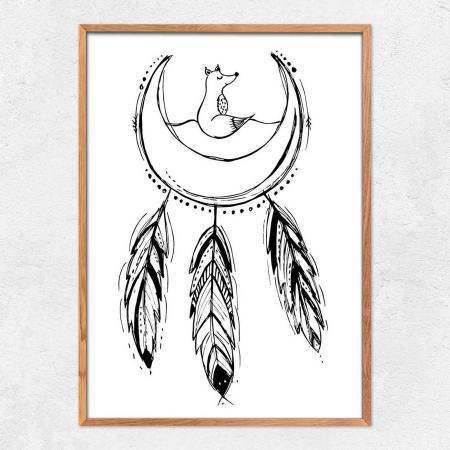 Autorský ilustrovaný plakát *KRÁSNÉ SNY*, formát A3, bez rámu