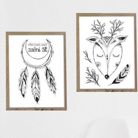 Set dvou ilustrovaných plakátů podle vaší volby, formát A3, bez rámu