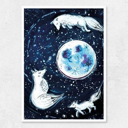 Autorský ilustrovaný plakát *A PŘECE SE TOČÍ*, formát A3, bez rámu