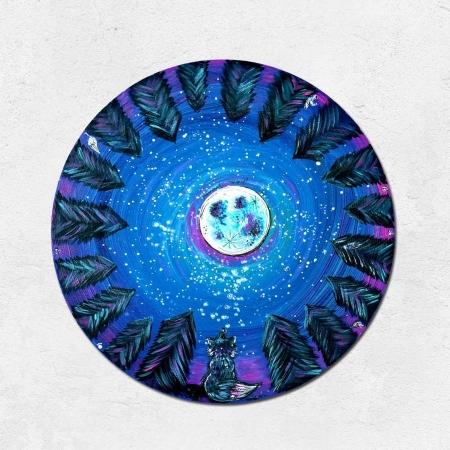 Vesmírný kulatý plakát *A UVIDÍŠ KOUZLO*, autorská ilustrace, průměr 29 cm