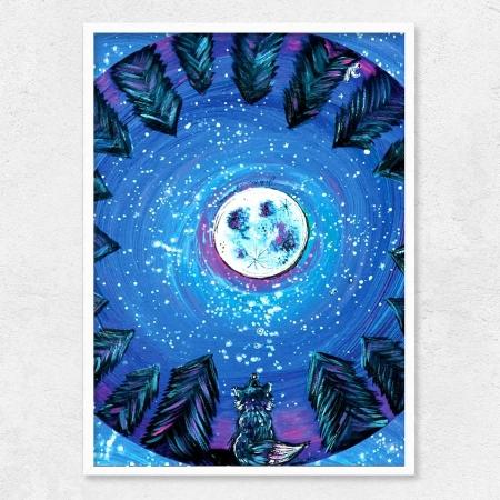 Autorský ilustrovaný plakát *A UVIDÍŠ KOUZLO*, formát A3, bez rámu