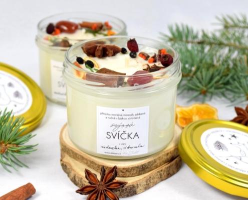Přírodní sójová svíčka Citrusová s vůní meduňky a citronely
