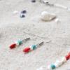 ~VE VLNÁCH TANČÍM~ Unikátní autorské náušnice z pravých perel a minerálních kamenů, nerez ocel
